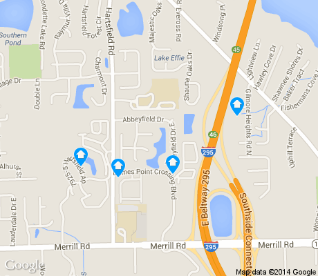 map of Gilmore apartments for rent