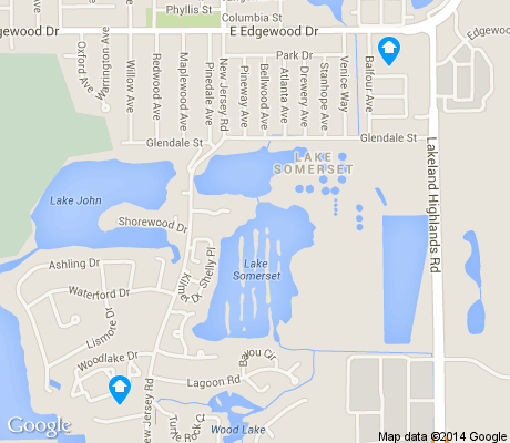 map of Lake Somerset apartments for rent