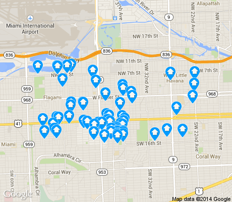 map of Alameda / West Flagler apartments for rent