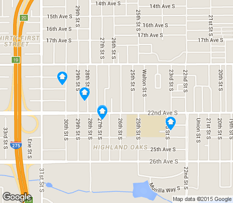 map of Highland Oaks apartments for rent