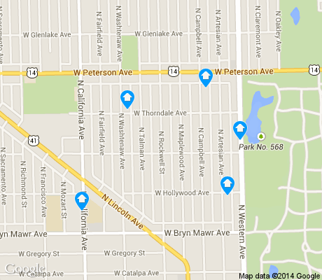 map of Arcadia Terrace apartments for rent