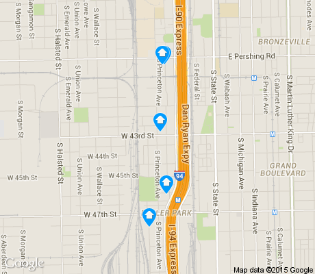 map of Fuller Park apartments for rent