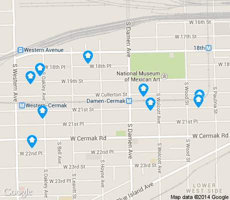 map of Heart of Chicago apartments for rent