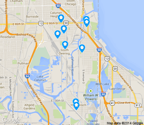 map of Hegewisch apartments for rent