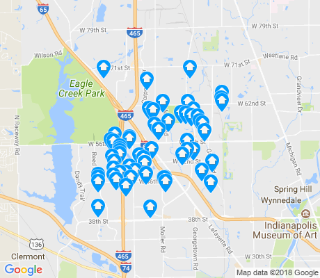map of 46254 apartments for rent