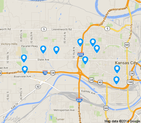 map of 66102 apartments for rent
