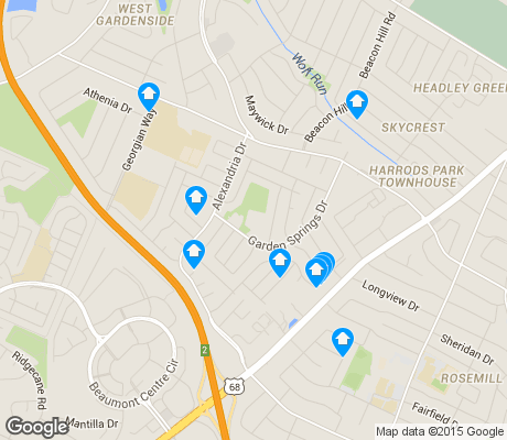 map of Garden Springs apartments for rent
