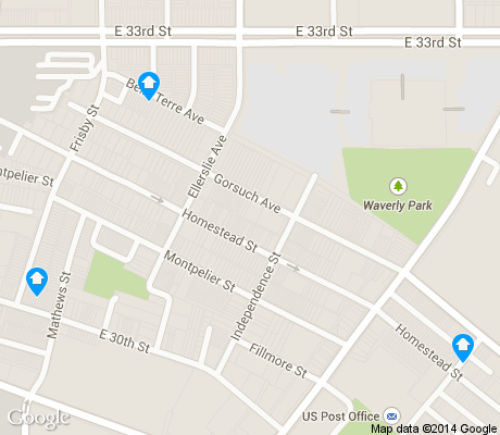 map of Better Waverly apartments for rent