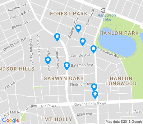 map of Garwyn Oaks apartments for rent
