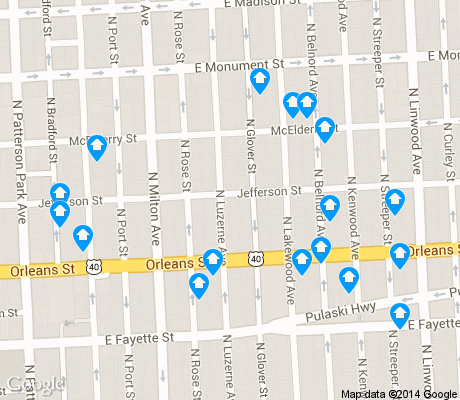 map of McElderry Park apartments for rent