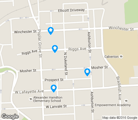 map of Mosher apartments for rent