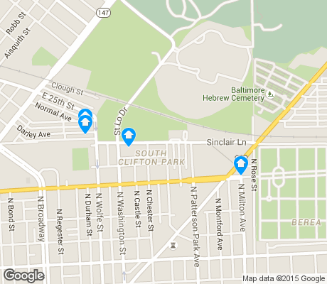 map of South Clifton Park apartments for rent