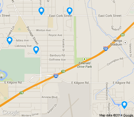 map of Milwood apartments for rent