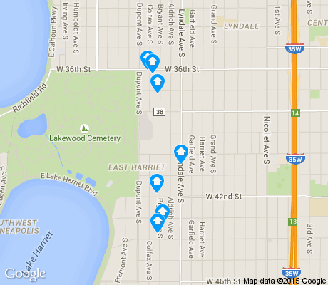 map of East Harriet apartments for rent