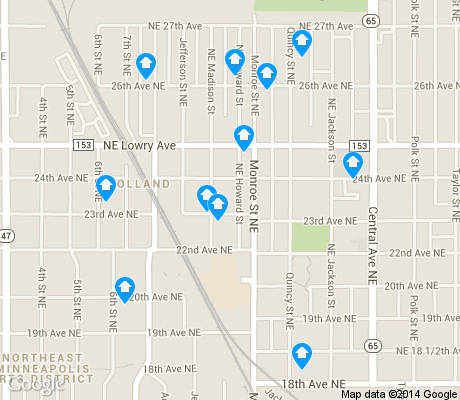 map of Holland apartments for rent