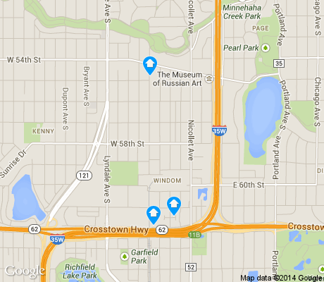 map of Windom apartments for rent