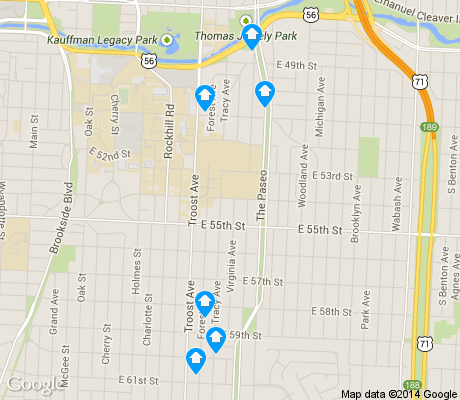 map of Eastern 49-63 apartments for rent
