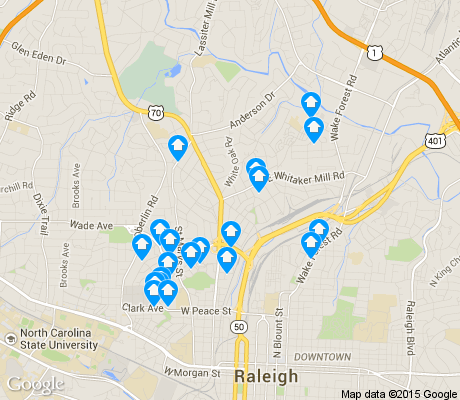 map of Five Points apartments for rent
