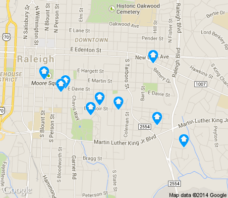 map of South Central apartments for rent