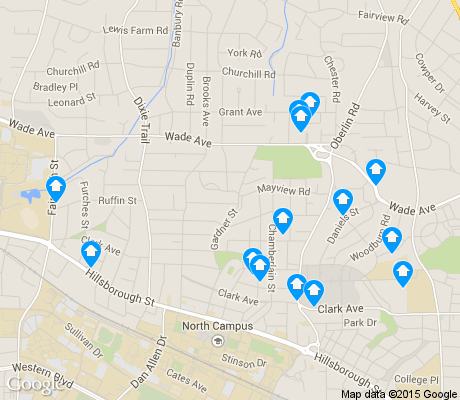 map of Wade apartments for rent