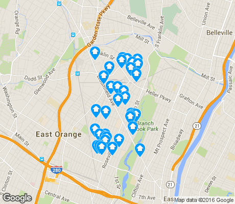 map of Upper Roseville apartments for rent