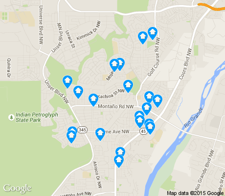 map of Taylor Ranch apartments for rent