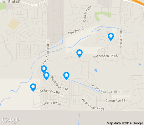 map of Tijeras Arroyo apartments for rent