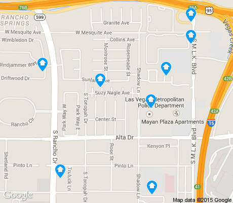 map of UMC apartments for rent