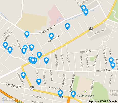 map of Delaware Avenue apartments for rent