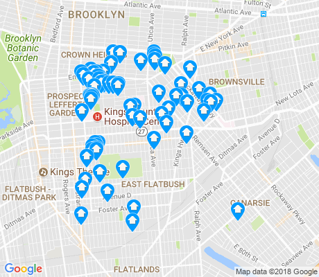 map of East Flatbush apartments for rent