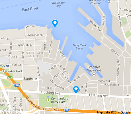 map of Navy Yard apartments for rent