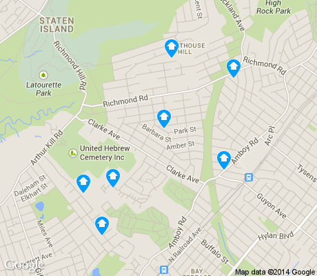 map of Richmond Town apartments for rent