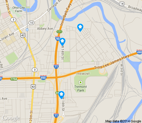 map of Industrial Valley apartments for rent