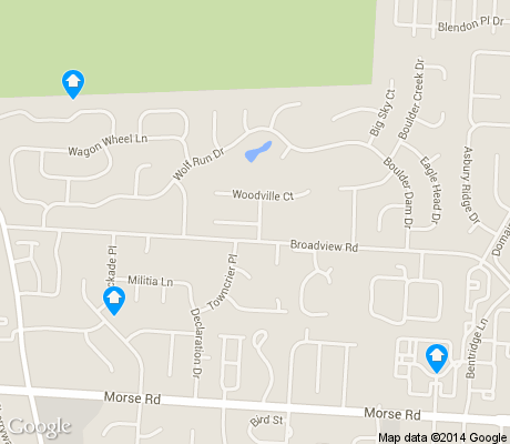 map of Blendon Woods apartments for rent