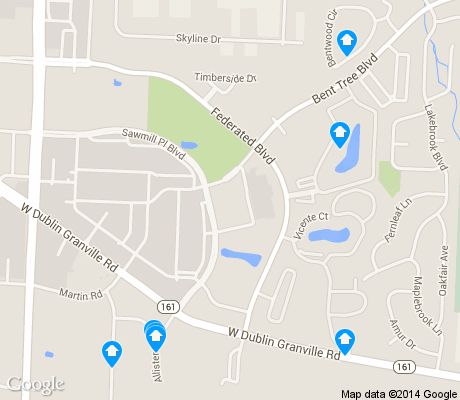 map of Brookside Woods apartments for rent