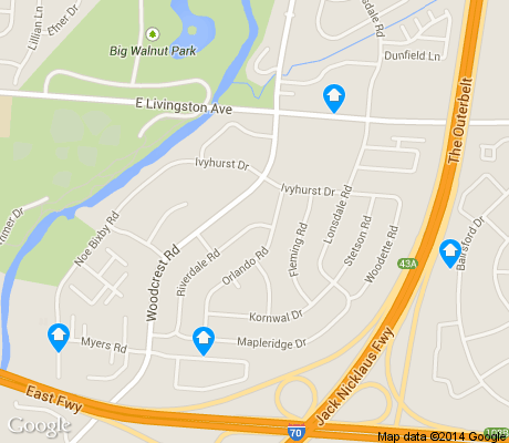 map of Pine Hills apartments for rent