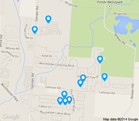 map of White Ash apartments for rent
