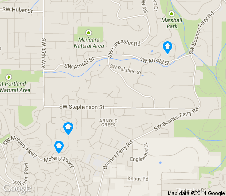 map of Arnold Creek apartments for rent