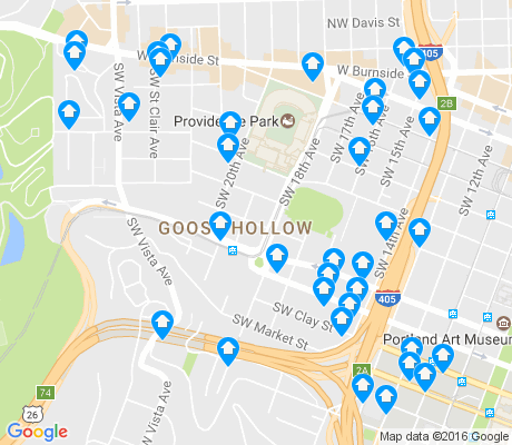 map of Goose Hollow apartments for rent
