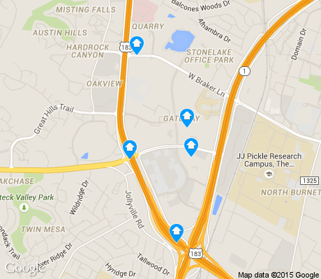 map of Gateway apartments for rent