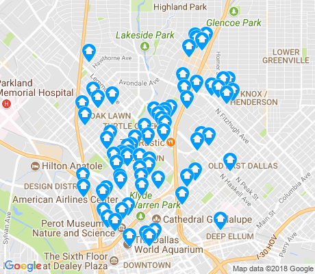 map of Oak Lawn apartments for rent