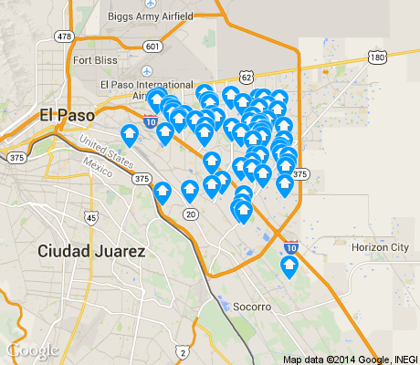 map of Lower Valley apartments for rent