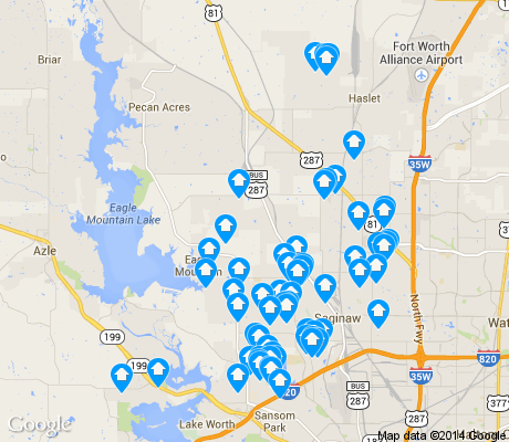 map of Far Northwest apartments for rent