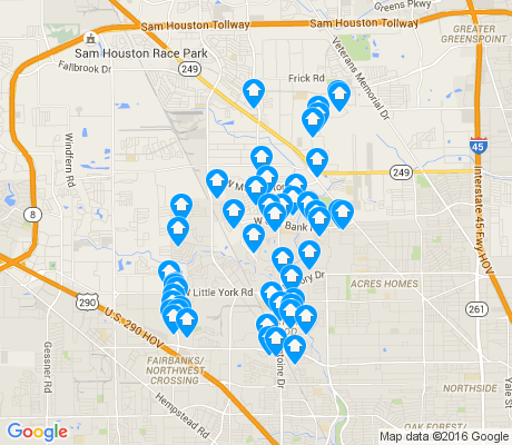 map of Greater Inwood apartments for rent