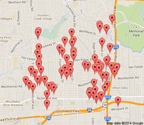 map of Greater Uptown apartments for rent