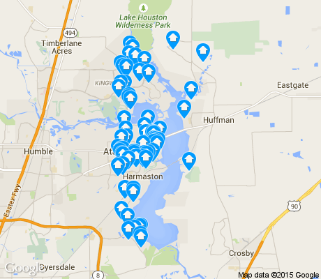 map of Lake Houston apartments for rent