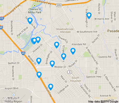 map of Meadowbrook / Allendale apartments for rent
