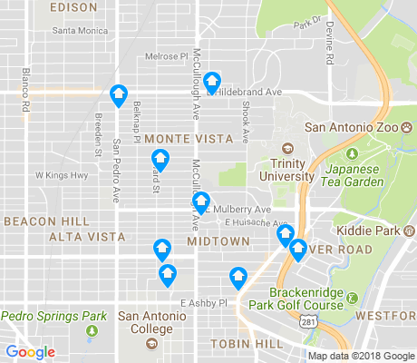 map of Monte Vista apartments for rent
