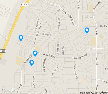 map of Northwest Crossing apartments for rent