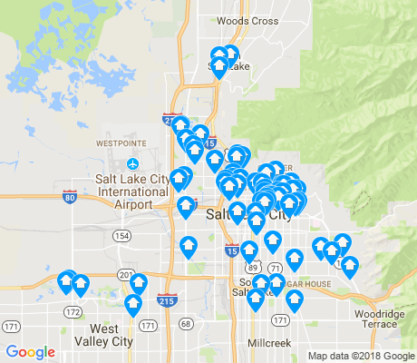 map of Salt Lake City apartments for rent